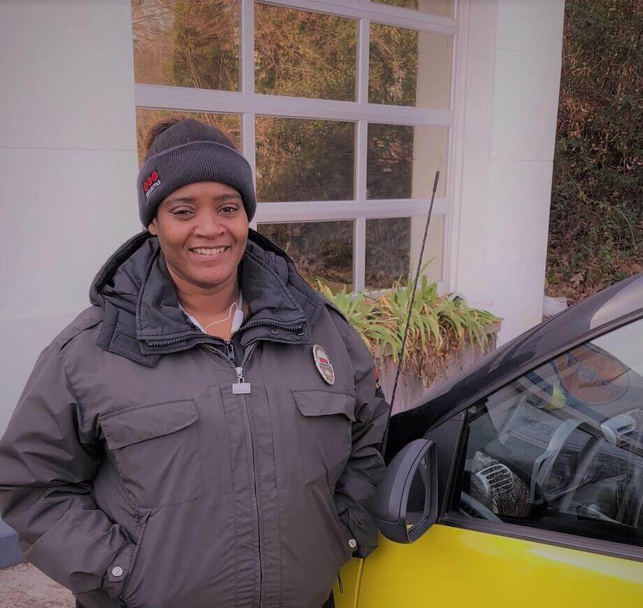 Tiffany Ellis and car edited