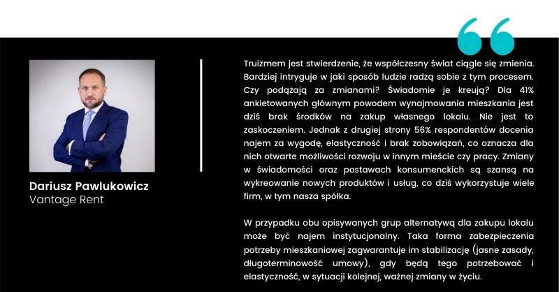 Dariusz Pawlukowicz sylwetka najemcy